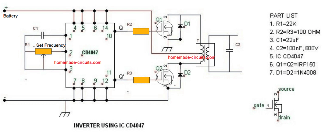 circuit diagram of 250w pwm inverter about the circuit resistor7 simple inverter circuits you can build at home homemade circuit circuit diagram of 250w pwm inverter about the circuit resistor