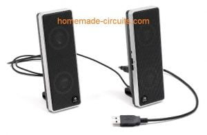 USB 5V Audio Amplifier for PC Speakers