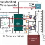 Ideal modified sine wave inverter circuit