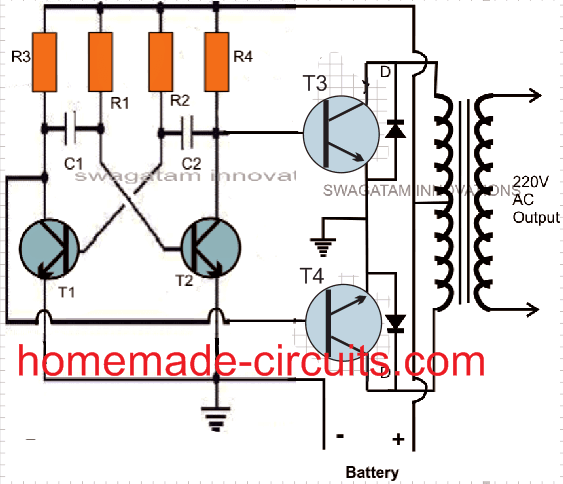 50 watt inverter circuits using BJT
