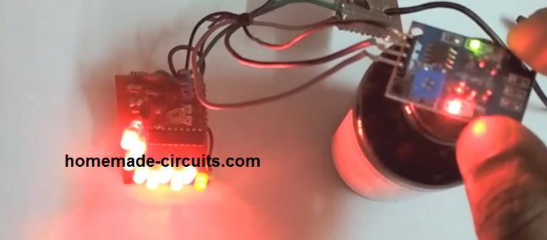 Simple Alcohol Detector Meter Circuit using MQ-3 Sensor Module