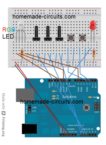 Control RGB with Arduino