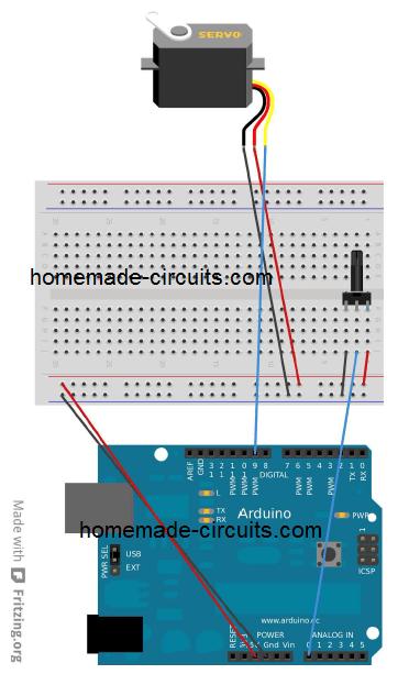 Arduino servo motor control