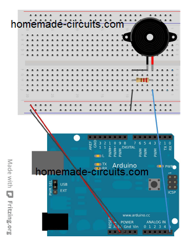 using piezo as vibration sensor with Arduino