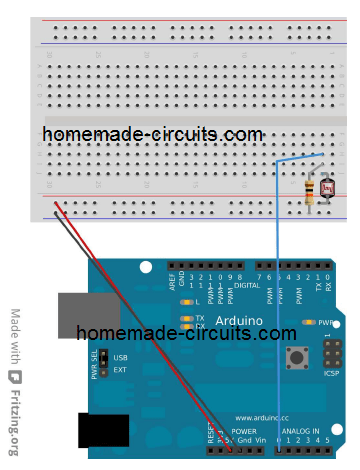 use LDR with Arduino