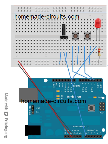 Using potentiometer with Arduino