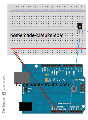 TMP36 with Arduino for Temperature measurement