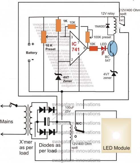 10 Automatic Emergency Light Circuits | Homemade Circuit