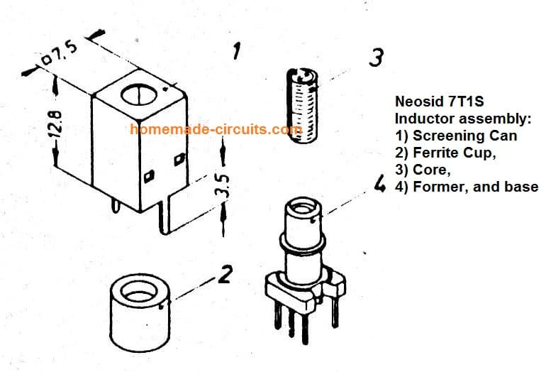 Neosid 7T1S inductor assembly