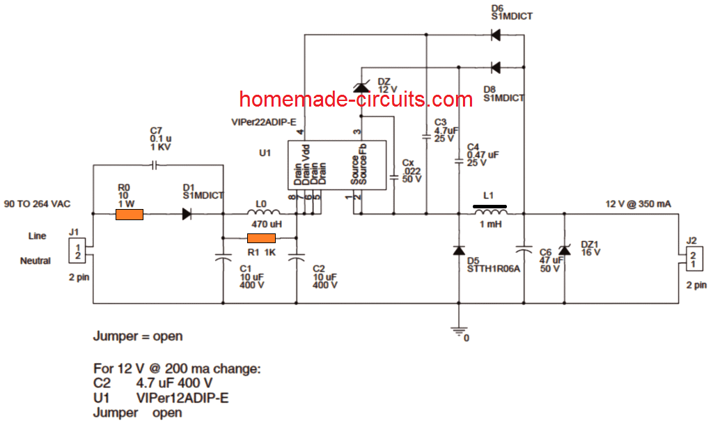 5 Easy 1 Watt Led Driver Circuits