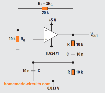 Wien-bridge circuit diagram