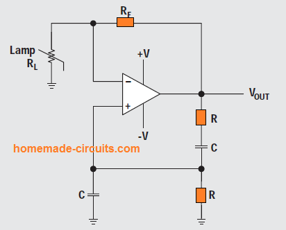 Wien-bridge oscillator with non-linear feedback