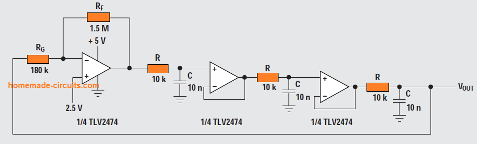 Buffered phase-shift oscillator