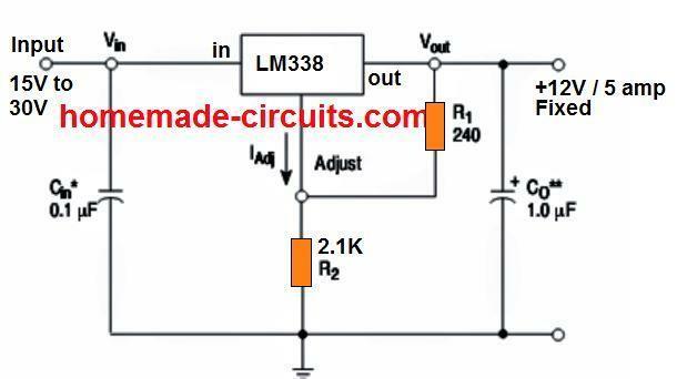 fixed circuit diagram 12v 5 amp fixed voltage regulator ic 78h12a datasheet homemade  12v 5 amp fixed voltage regulator ic