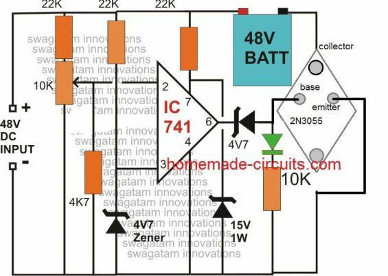 2N3055 battery charger