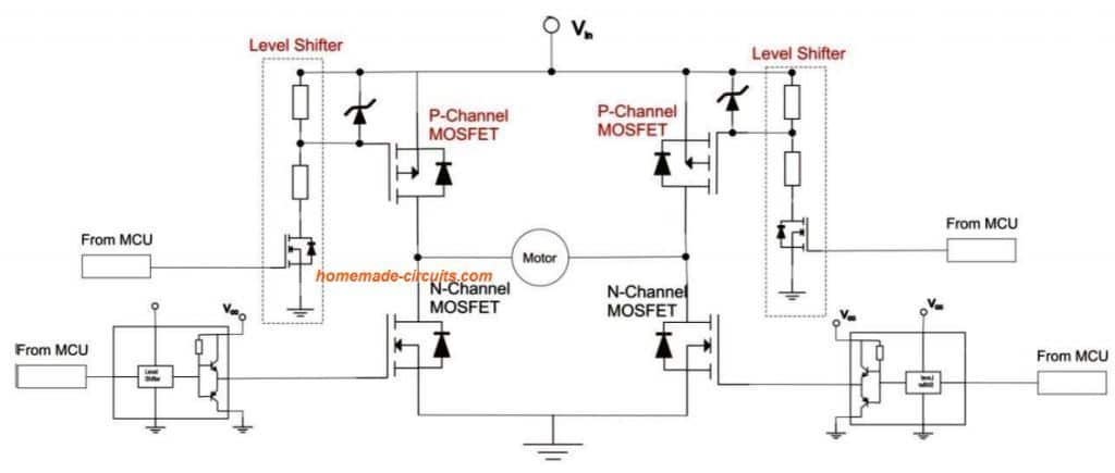 P-Channel MOSFET in H-Bridge Applications