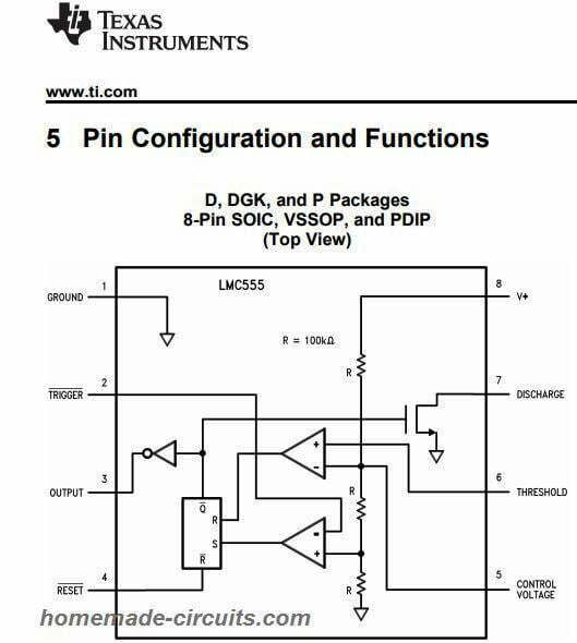 CMOS IC LMC555 Datasheet - Works with 1 5 V Supply