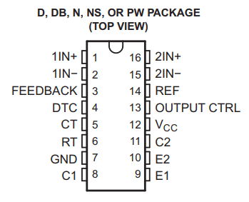 IC TL494 pinout details