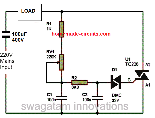 on ac dimmer wiring diagram