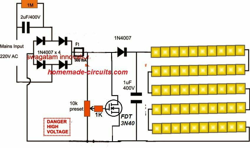 5630 SMD LED Driver/Tube light Circuit | Homemade Circuit ProjectsHomemade Circuit Projects