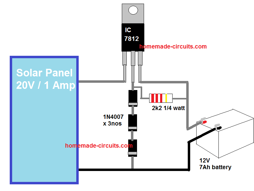 9 Simple Solar Battery Charger Circuits Homemade Circuit Projects