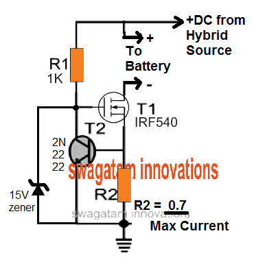 hybrid double DC input charger current controller