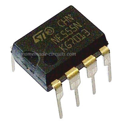 NE555 IC original top view