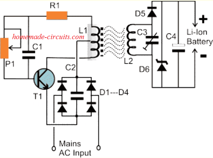 Wireless Li-Ion Battery Charger Circuit