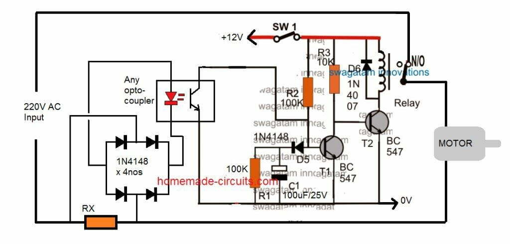 5 useful motor dry run protector circuits explained