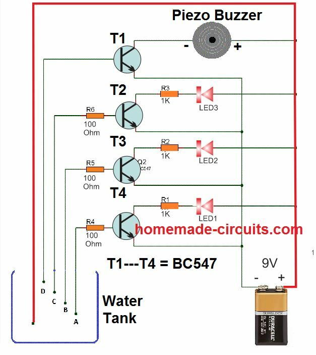 Water Tank Level Switch Wiring Diagrams on