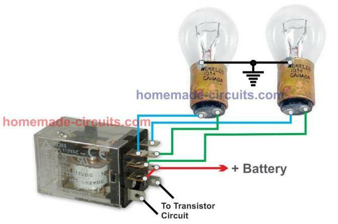 DPDT Relay Connection Diagram with Dipper Bulb