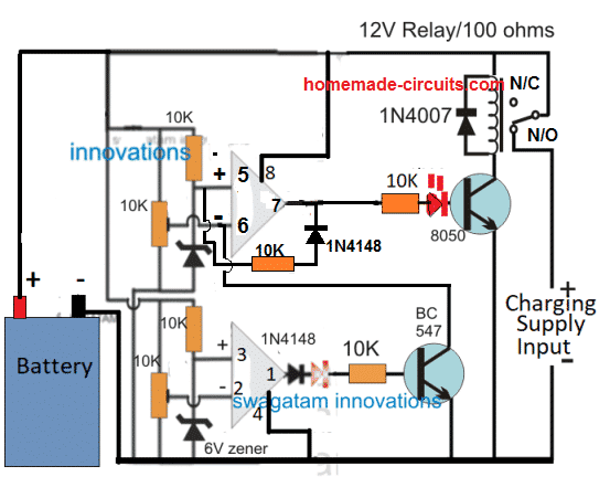 Lead Acid Battery Charger Circuits | Homemade Circuit Projects Hard Battery Charger Volt Wiring Diagram on