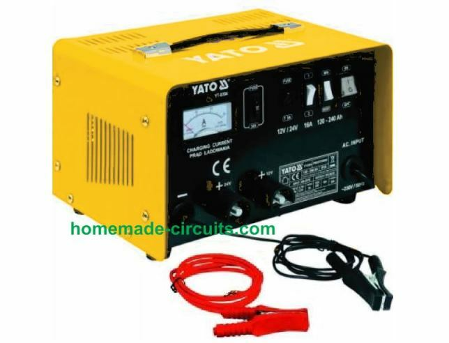 Regulated Car Battery Charger Circuit For Garage Mechanics Homemade Circuit Projects
