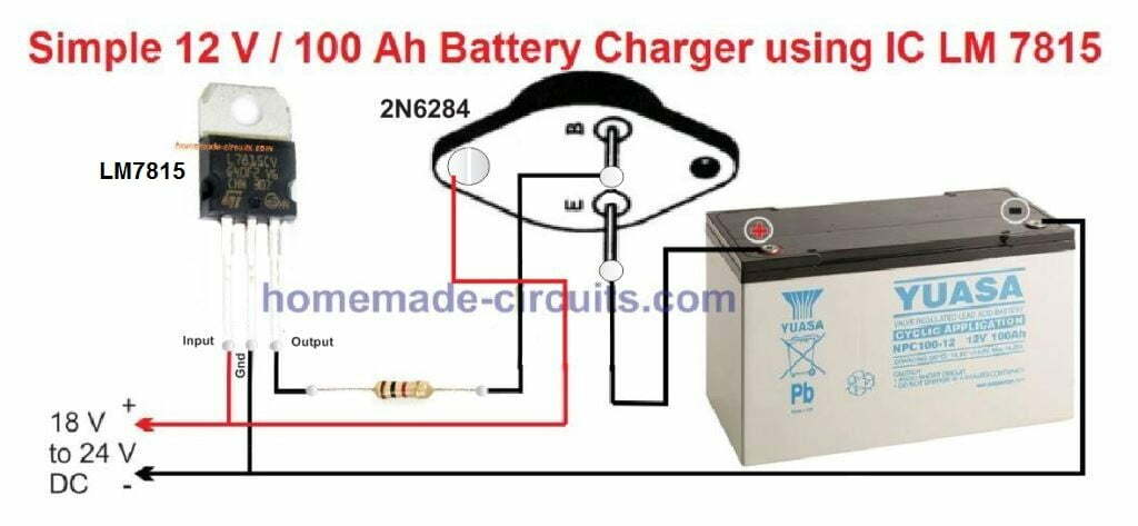 Lead Acid Battery Charger Circuits | Homemade Circuit Projects