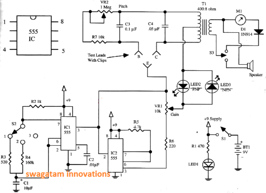 simple transistor diode tester circuit homemade circuit diode symbol circuit diagram using 555 timer ic