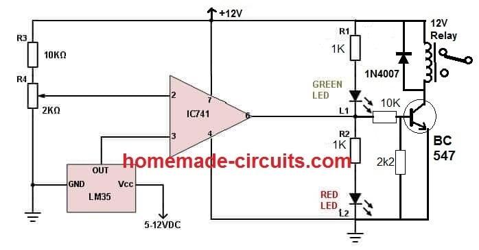 LM35 Pinout, Datasheet, Application Circuit | Homemade