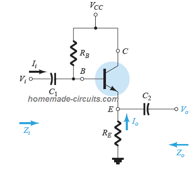 emitter follower transistor configuration