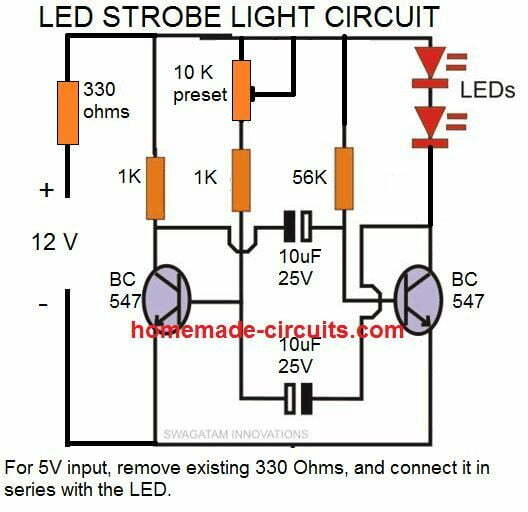 [DIAGRAM_3ER]  How to Make Any Light a Strobe Light Using Just Two Transistors | Homemade  Circuit Projects | Led Strobe Wiring Diagram |  | Homemade Circuit Projects