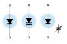 symbol of varicap varactor diode