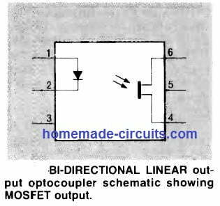 bidirectional linear output optocoupler
