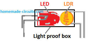 LED LDR opto-coupler assembly details