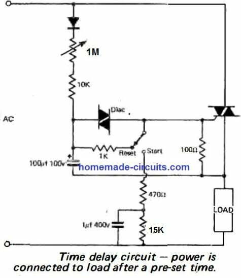delay on timer using triac