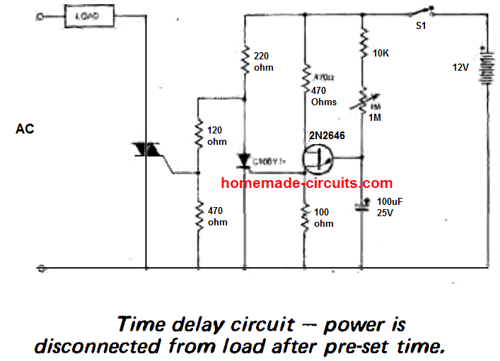 delay off timer using triac