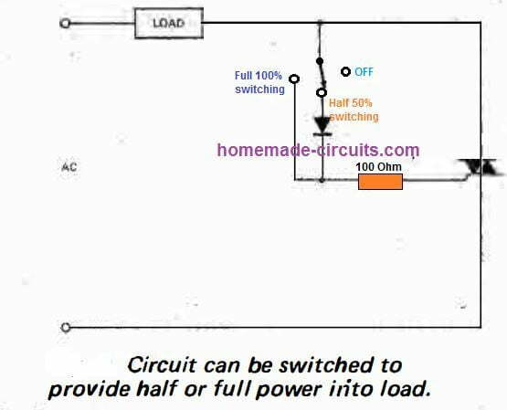 half wave triac control