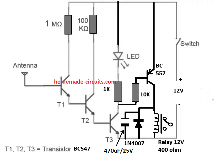 non contact ac phase detector circuit  tested