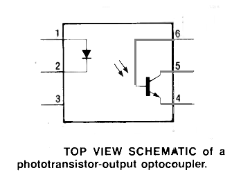 basic optocoupler symbol and pinout