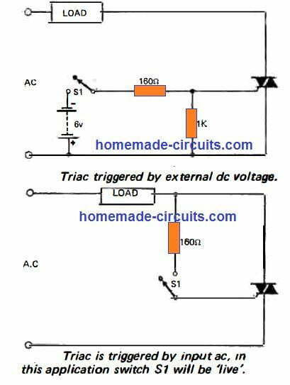 How to trigger a triac