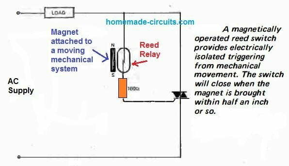 triac switching using a reed relay