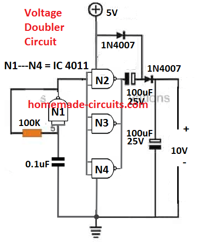 voltage doubler using nand gates