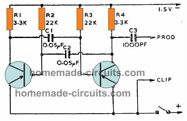 signal injector circuit using BC547 transistors